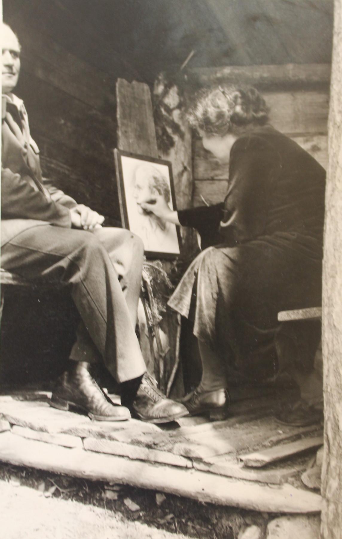 Maria malt Bruder Kopie