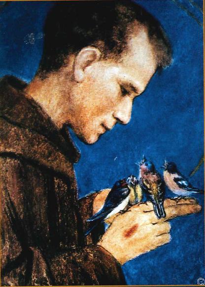 Pater Rafael als Franziskus Kopie