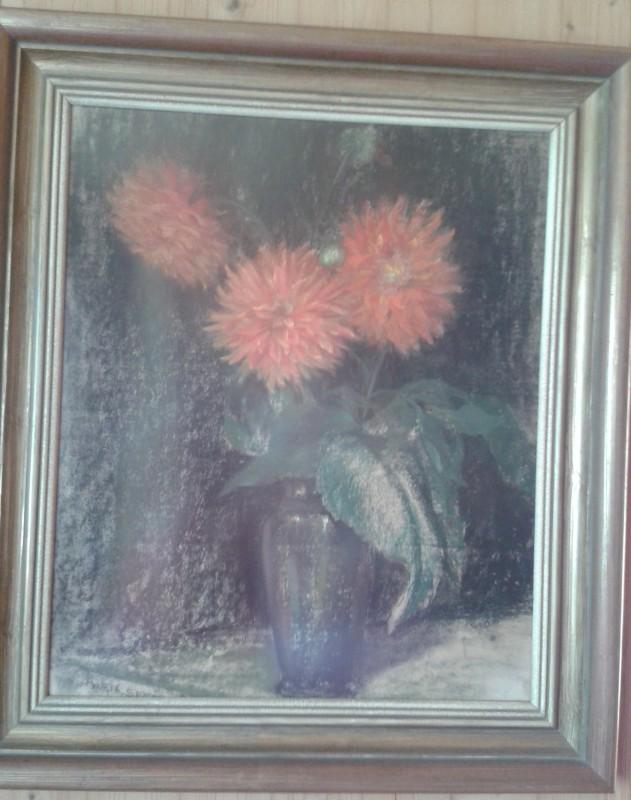 Spötl Bild rote Blumen